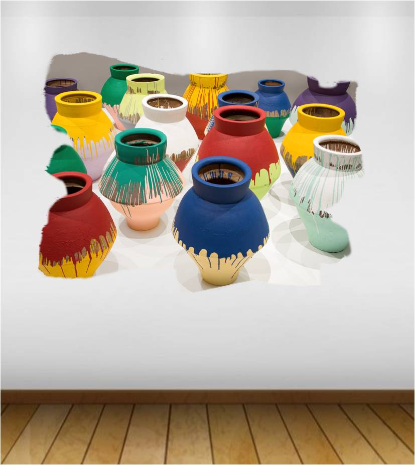 Colored Vases By Ai Weiwei Mywholewall