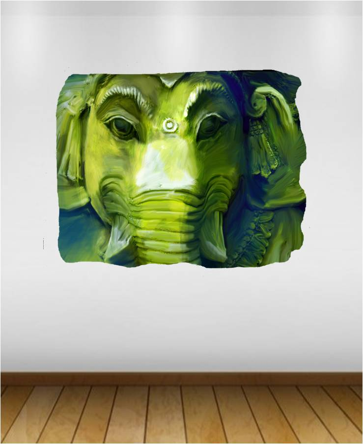 Ganesha green elephant