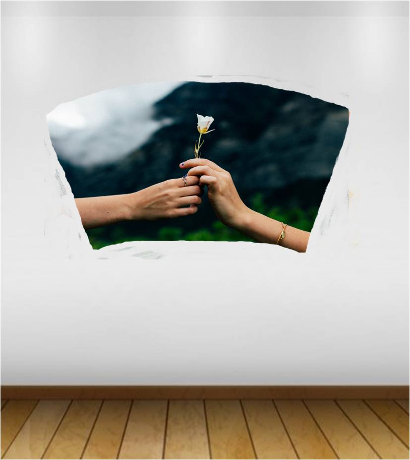 giving a flower mywholewall
