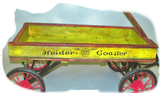 Old yellow wagon