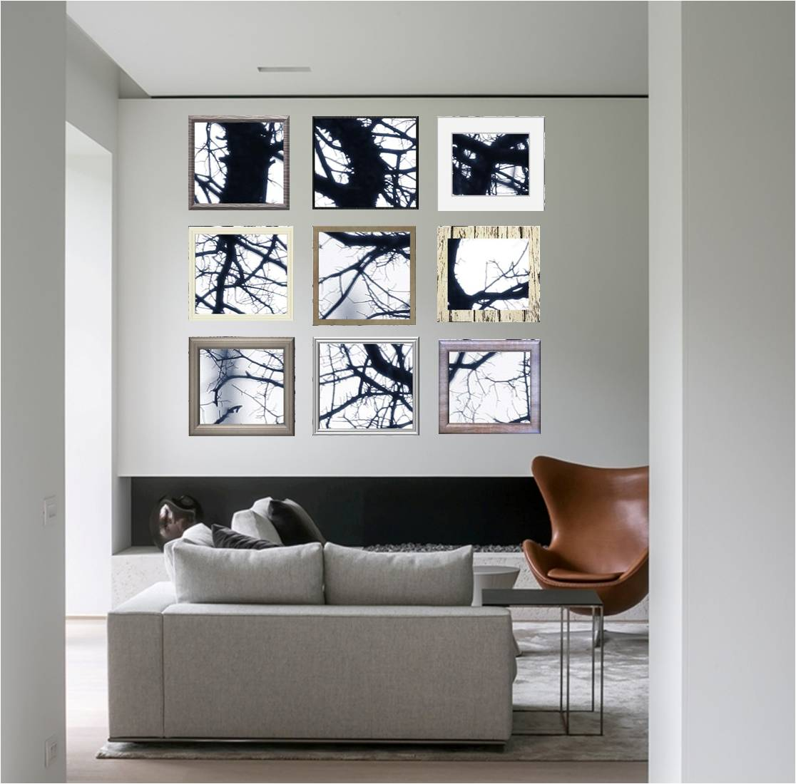 It's easy: 6 Grids for Your Gallery Wall