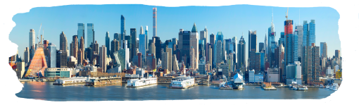"""New York City wide view 48""""x14"""""""