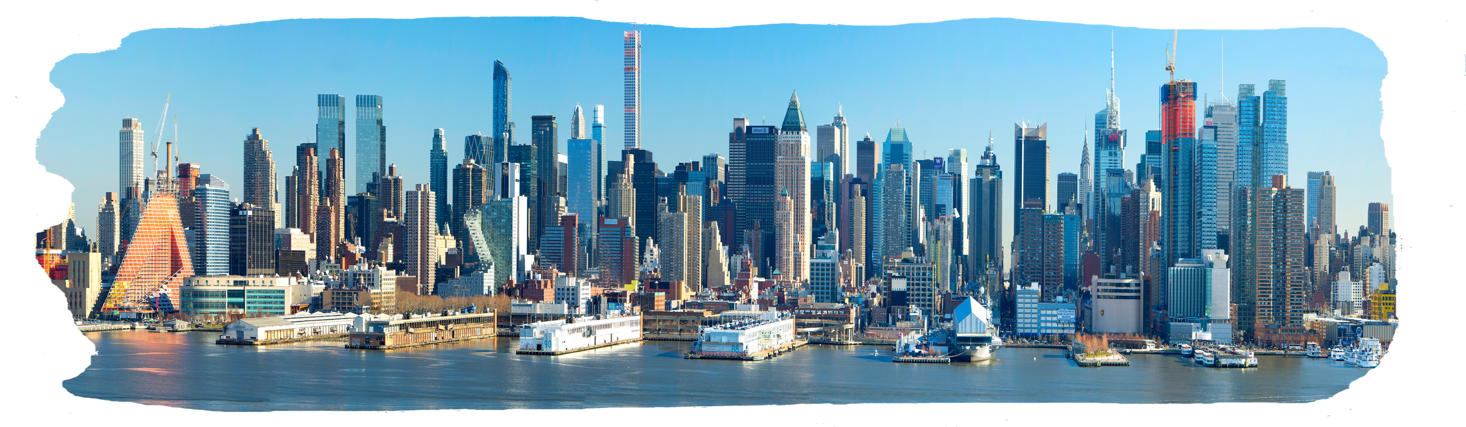 "New York City wide view 48""x14"""