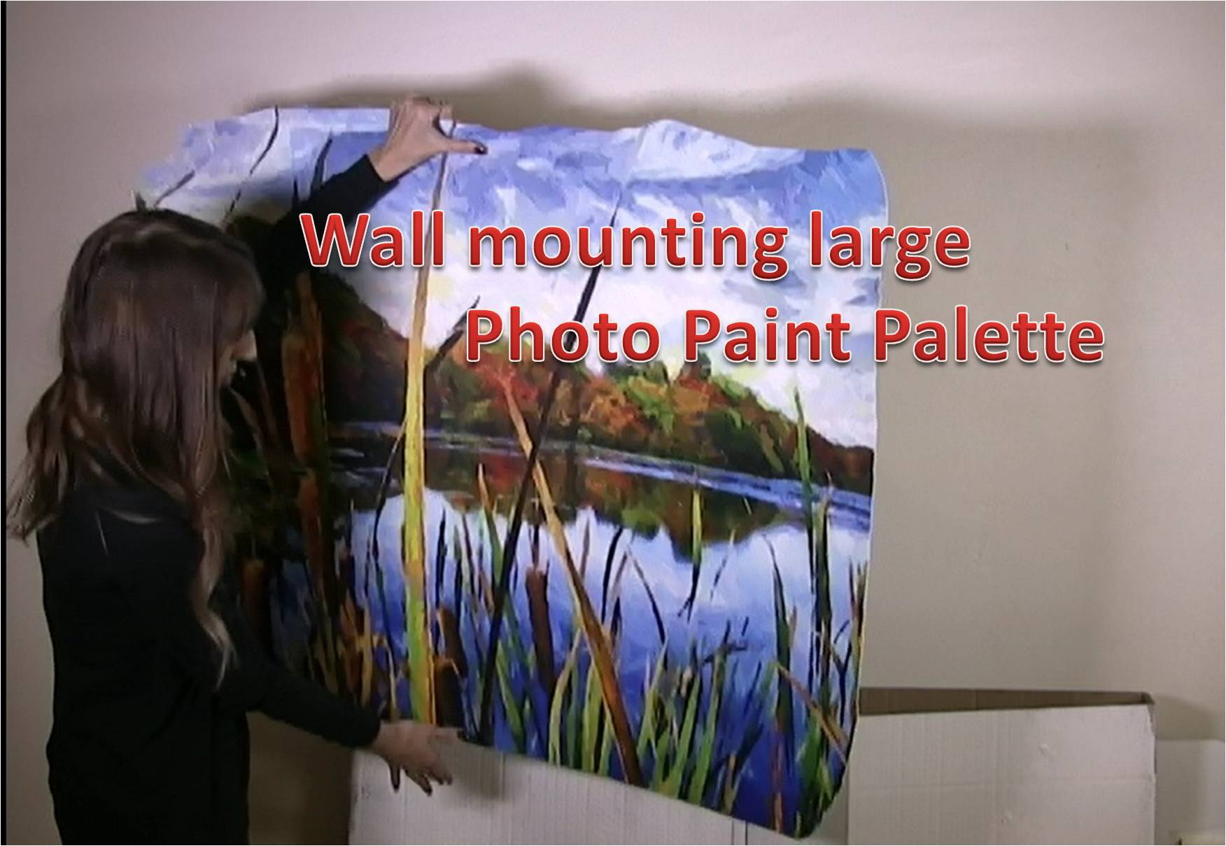 Installing a large Photo Paint Palette to wall