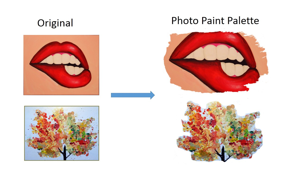photo paint palette before and after