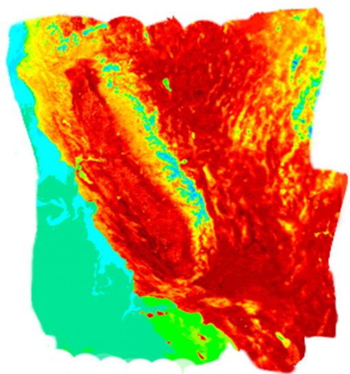 california heat map