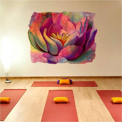 yoga studio art