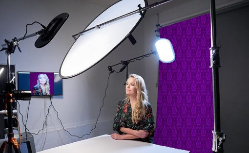 purple backdrop