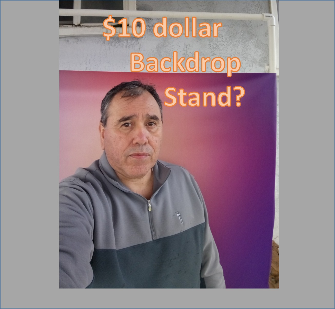 Make a Tall Backdrop Stand for Under $20.00