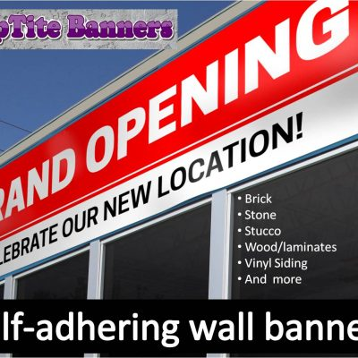 Outdoor Self-adhering Vinyl Wall Banners