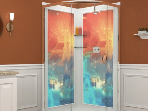 shower stall enclosue color