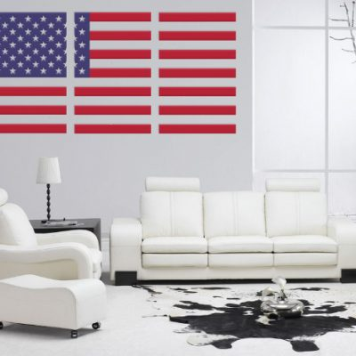clear usa flag wall art