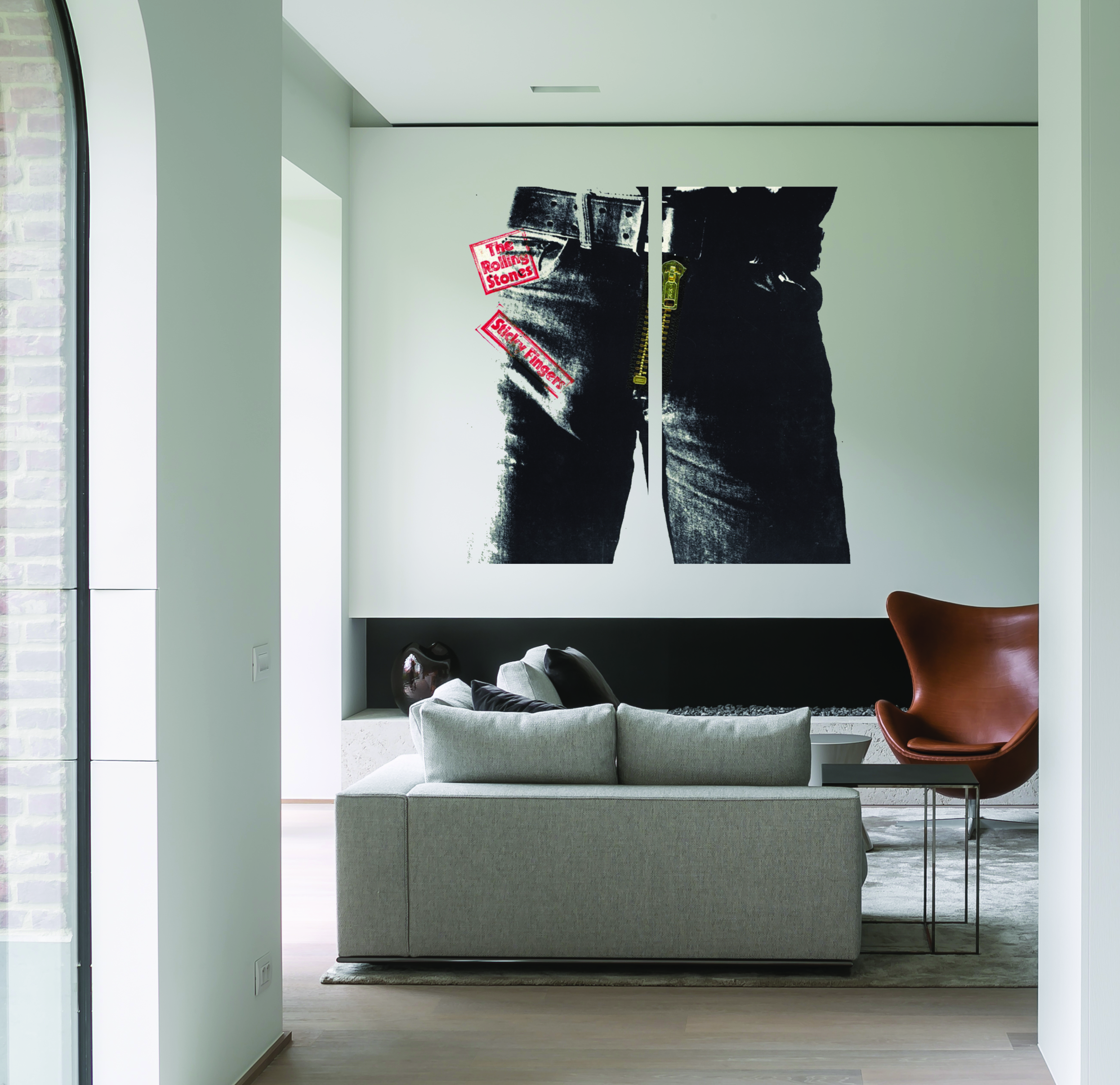 The Rolling Stones Sticky Fingers Album Cover Wall Art In Two Clear Acrylic Sections Mywholewall