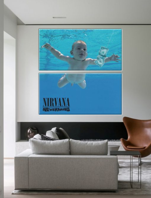 nevermind nirvana wall art