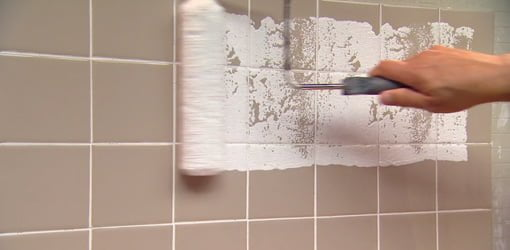 painting wall tile