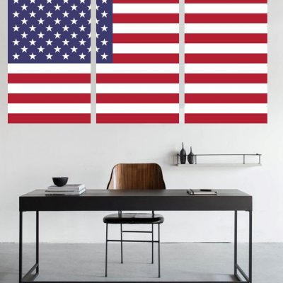 usa flag office