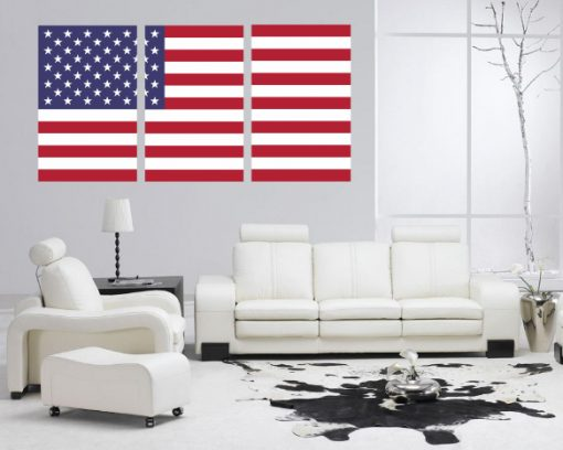 usa flag decor